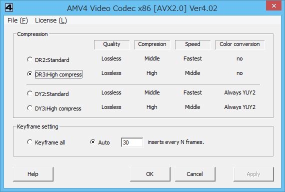 AMV4 Video Codec Online Help